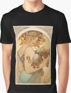 'Fruit' by Alphonse Mucha (Reproduction) Graphic T-Shirt
