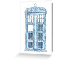 TARDIS scribble Greeting Card