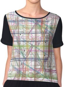 Linear Thoughts Chiffon Top
