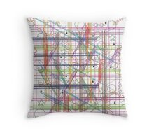 Linear Thoughts Throw Pillow