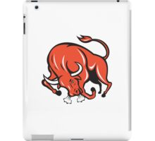 Angry Bull Charging Cartoon iPad Case/Skin