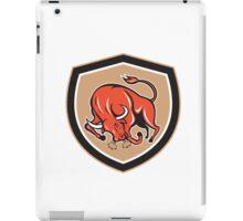 Angry Bull Charging Shield Cartoon iPad Case/Skin