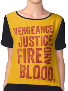 Vengeance Justice Fire and Blood Women's Chiffon Top