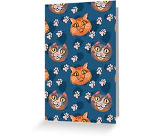 House Cat Pattern Greeting Card