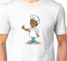 African American Chef Cook Thumbs Up Cartoon Unisex T-Shirt