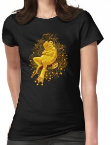 FROGGIE IN RELAX MODE Womens Fitted T-Shirt