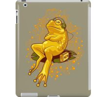 FROGGIE IN RELAX MODE iPad Case/Skin