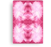 Hand-Painted Abstract Watercolor in Dark Pink and White Canvas Print