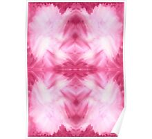 Hand-Painted Abstract Watercolor in Dark Pink and White Poster