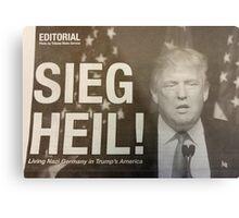 Sieg Heil Trump Metal Print