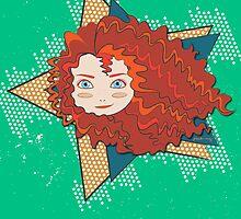 I Am Brave - Princess Merida by Paulway Chew