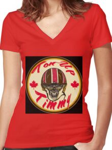 Cafe Racer CANADA Ton-Up Timmy Women's Fitted V-Neck T-Shirt