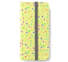 Confetti on Yellow (pattern) iPhone Wallet/Case/Skin