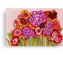 """""""Bouquet"""" - Colorful, unique artist's original design! Canvas Print"""