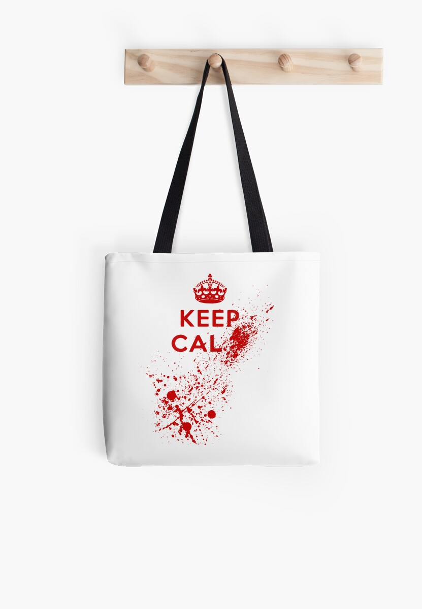 Keep Calm Blood Splatter by GrimDork