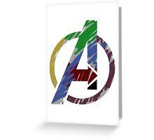 Avengers graffiti logo Greeting Card