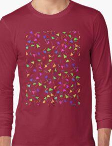Confetti on Black (pattern) Long Sleeve T-Shirt