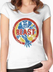 Beast •X-Men Logo Women's Fitted Scoop T-Shirt