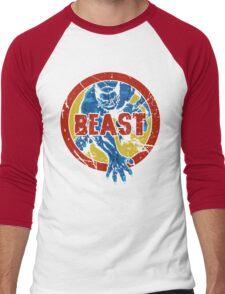 Beast •X-Men Logo Men's Baseball ¾ T-Shirt