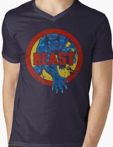 Beast •X-Men Logo Mens V-Neck T-Shirt