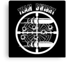 Haven Team Dwight Bullet Magnet White Logo Canvas Print