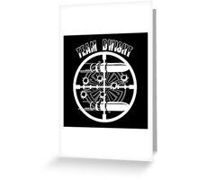 Haven Team Dwight Bullet Magnet White Logo Greeting Card