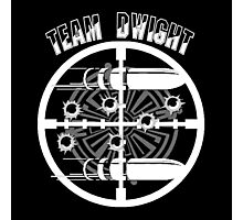 Haven Team Dwight Bullet Magnet White Logo Photographic Print