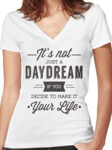 Day Dreams Women's Fitted V-Neck T-Shirt