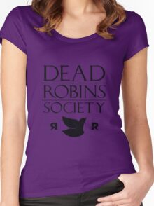 DEAD ROBINS SOCIETY (Stephanie ver.) Women's Fitted Scoop T-Shirt
