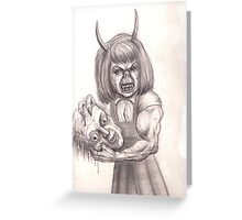 little demon Greeting Card