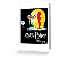 Garry Potter and the Secrets of the Slimy Sponge Greeting Card
