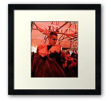 Dark Mofo Winter Feist 2014 Reindeer man  Framed Print