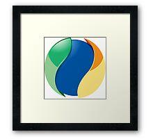 ball inside Framed Print