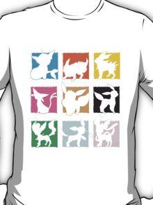 Eeveelutions 3x3 (Fancy) T-Shirt