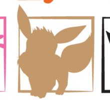 Eeveelutions 3x3 (Grid) Sticker