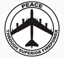 Peace Through Superior Firepower Freedom Armed Forces Shirt Poster Sticker by 8675309