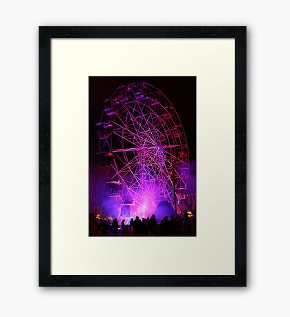 Ferriswheel of Death, Dark Mofo 2014  Framed Print