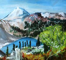 Mount Shuksan acrylics On Canvas Board by JamesPeart