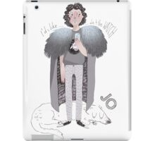 Contemporary Jo as a worn out apple user iPad Case/Skin