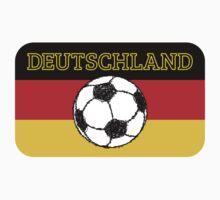 Deutschland flag | Football by piedaydesigns