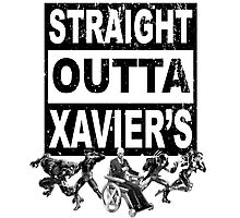 Straight Outta Xavier's • X-Men Compton Parody Photographic Print
