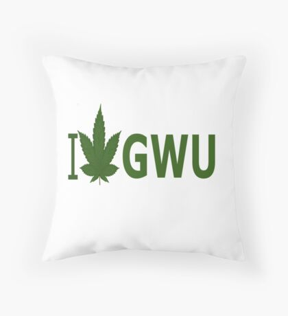 I Love GWU Throw Pillow