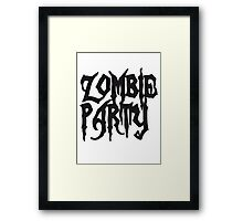 Zombie party drinking parties alcohol drinking Framed Print