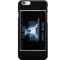 Weeping Angel/ Don't Blink iPhone Case/Skin