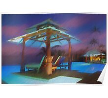Tropical Nightscape Poster