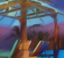 Tropical Nightscape Sticker