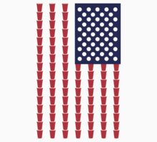 BEER PONG AMERICAN FLAG by 2E1K