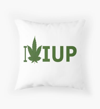 I Love IUP Throw Pillow