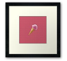 Retro-Cone Framed Print