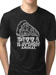 Pizza Is My Spirit Animal, Funny Pizza Lover Quote T-Shirt Tri-blend T-Shirt
